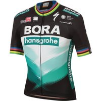 Sportful Bora Hansgrohe Ex World Champion BodyFit Team Jersey - Black/Green - L