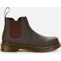 Dr. Martens Kids' 2976 Wildhorse Leather Lace-Up Boots - Gaucho - UK 12 Kids