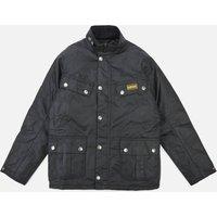 Barbour International Boys' Duke Wax Jacket - Black - XL (12-13 Years)