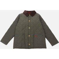 Barbour Heritage Boys Liddesdale Quilt Jacket - DK Olive/Red - M (8-9 Years)