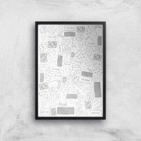 Snowtap Biscuits Giclee Art Print - A2 - Black Frame