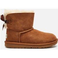 UGG Kids' Mini Bailey Bow Sheepskin Boots - Chestnut - UK 13 Kids
