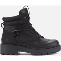 UGG Women's Tioga Waterproof Leather Hiking Style Boots - Black - UK 3