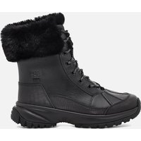 UGG Women's Yose Fluff Waterproof Leather Snow Boots - Black - UK 6