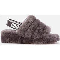 UGG Women's Fluff Yeah Slide Sheepskin Slippers - Charcoal - UK 5