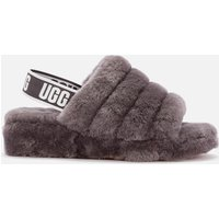 UGG Women's Fluff Yeah Slide Sheepskin Slippers - Charcoal - UK 6