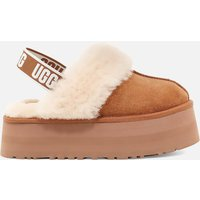 UGG Women's Funkette Suede Flatform Slippers - Chestnut - UK 4