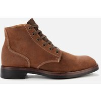 Superdry Mens Officer Lace Up Boots - Brown - UK 10