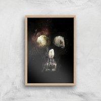 Ikiiki Cave Giclee Art Print - A2 - Wooden Frame