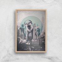 Ikiiki DJ Giclee Art Print - A3 - Wooden Frame