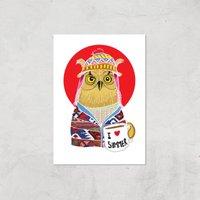 Ikiiki Summer Owl Giclee Art Print - A3 - Print Only
