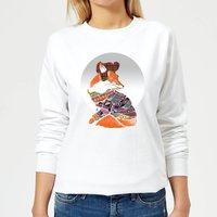 Ikiiki Winter Fox Women's Sweatshirt - White - XL - White