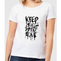 Ikiiki Keep The Spirit Alive Women's T-Shirt - White - S - White