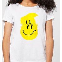 Ikiiki Smiley Women's T-Shirt - White - 3XL - White