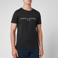 Tommy Hilfiger Mens Tommy Logo T-Shirt - Jet Black - XL