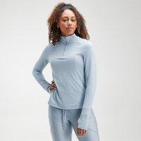MP Women's Velocity 1/4 Zip Top- Light Blue - XL