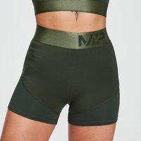 MP Women's Adapt Textured Shorts- Dark Green - XL