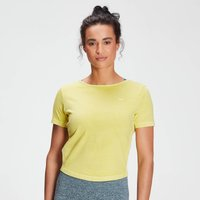 MP Women's Raw Training Washed Tie Back T-shirt - Washed Yellow - L