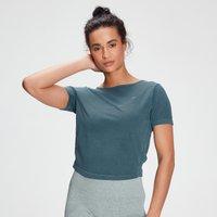 MP Women's Raw Training Washed Tie Back T-shirt - Deep Sea Blue - L