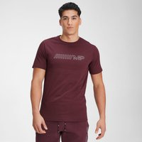 MP Mens Outline Graphic Short Sleeve T-Shirt - Washed Oxblood - M