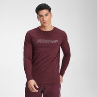 MP Men's Outline Graphic Long Sleeve Top - Washed Oxblood - XXS