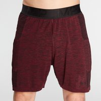 MP Men's Essential Seamless Shorts- Washed Oxblood Marl - XXS