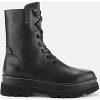 Ash Womens Stone Leather Lace Up Boots - Black - UK 7