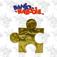 Banjo Kazooie Limited Edition 24K Gold plated Jigsaw Piece - Jiggy (Rare Store)