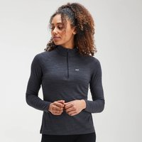 MP Women's Performance Zip Training Top- Black/Charcoal Marl - S