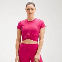 MP Women's Power Short Sleeve Crop Top - Virtual Pink - XXS