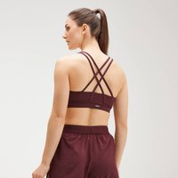 MP Women's Essentials Training Control Sports Bra - Washed Oxblood - XS