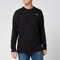 The North Face Mens Long Sleeve Easy T-Shirt - TNF Black/Zinc Grey - S