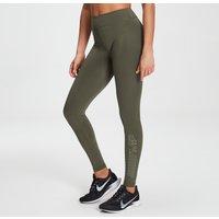 MP Womens Branded Training Leggings - Dark Olive - L