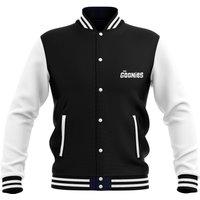 The Goonies Never-Say-Die Mens Varsity Jacket - Black - M - Black