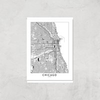 Chicago Light City Map Giclee Art Print - A2 - Print Only