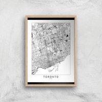 Toronto Light City Map Giclee Art Print - A3 - Wooden Frame
