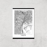 Tokyo Light City Map Giclee Art Print - A3 - Print Only