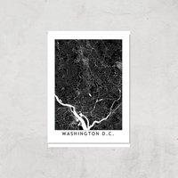Washington D C Dark City Map Giclee Art Print - A2 - Print Only