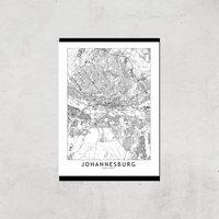 Johannesburg Light City Map Giclee Art Print - A3 - Print Only