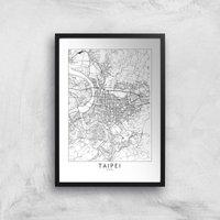Taipei Light City Map Giclee Art Print - A4 - Print Only
