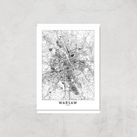 Warsaw Light City Map Giclee Art Print - A2 - Print Only
