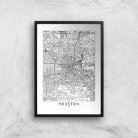 Houston Light Print Giclee Art Print - A3 - Black Frame