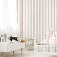 'Superfresco Easy Pink Vintage Pastel Striped Wallpaper