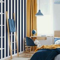 'Superfresco Easy Navy Vintage Striped Wallpaper