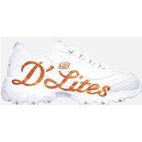 Skechers Women's D'Lites Glitzy City - White - UK 6