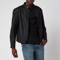Barbour International Mens Stove Wax Jacket - Black - S