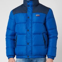 Tommy Jeans Mens Corp Puffa Jacket - Providence Blue - XXL