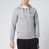 Emporio Armani EA7 Men's Zipped Hoodie - Grey - L