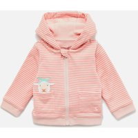 Joules Babies' Tenley Zip Sweatshirt - Pink Sheep - Up to 3 Months