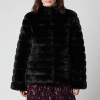 MICHAEL MICHAEL KORS Womens Faux Fur Short Coat - Black - M